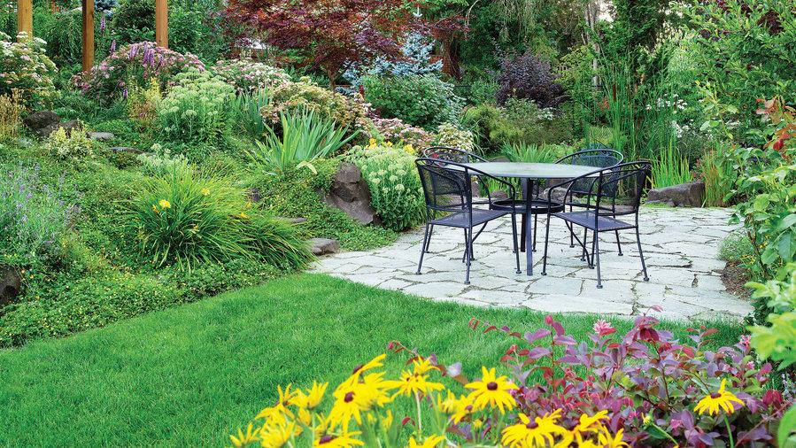 4 solutions for a sloped yard sunset magazine sunset magazine. Black Bedroom Furniture Sets. Home Design Ideas